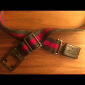 Gucci Vintage Authentic Belt (Red and Green)